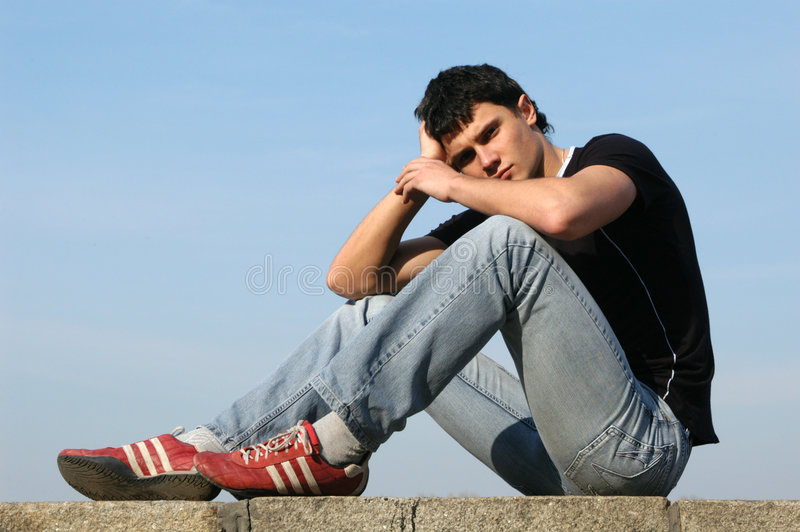 Sorrowful Teenager royalty free stock photos