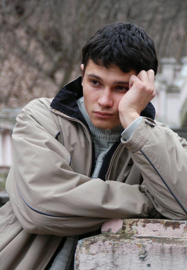 Sorrowful Young Man stock image