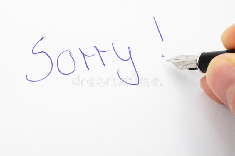 Download Sorry stock photo. Image of sorry, apologetic, word, text - 14380634