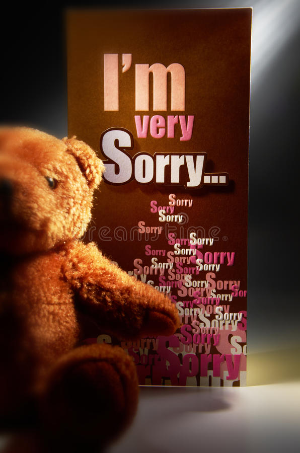 Sorry. A simple beautiful picture to express sorry stock photos