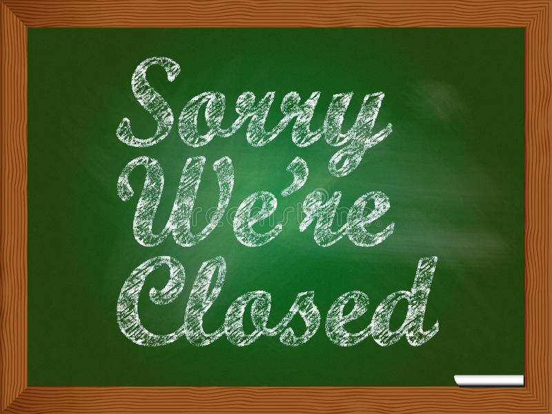 Sorry we are closed stock illustration