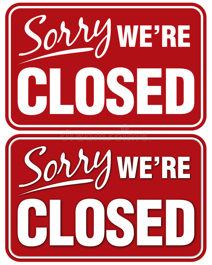 Download Sorry we're Closed stock illustration. Illustration of sorry - 166910