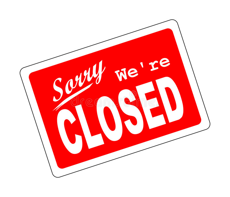 Sorry we're closed vector illustration