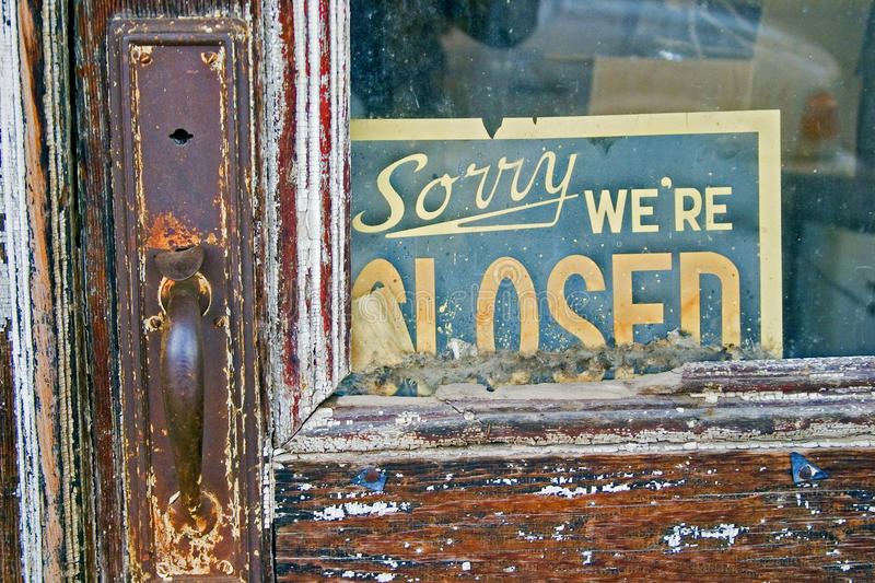 Download Sorry We're Closed sign stock image. Image of outdoors - 12498991