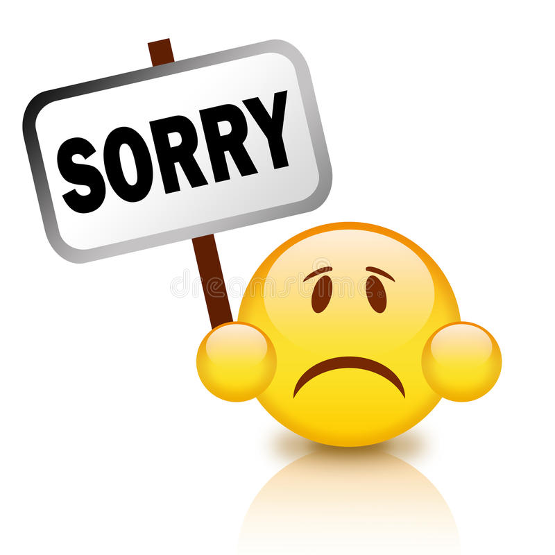 Sorry sign royalty free illustration