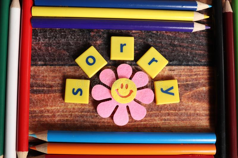 Sorry. Spelled in between colored pencil frames royalty free stock photos