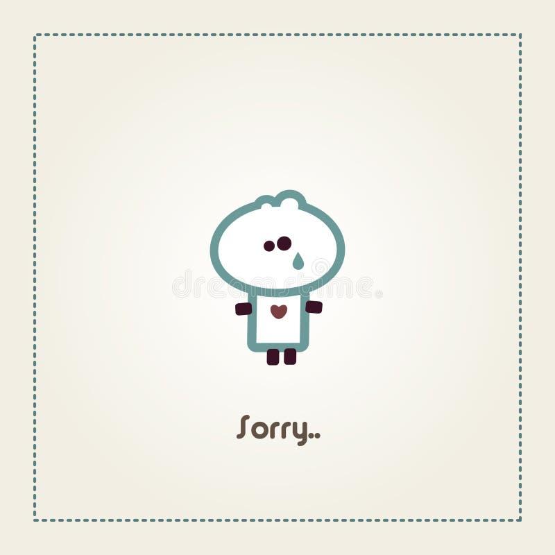 Sorry - Tiny Dude royalty free illustration