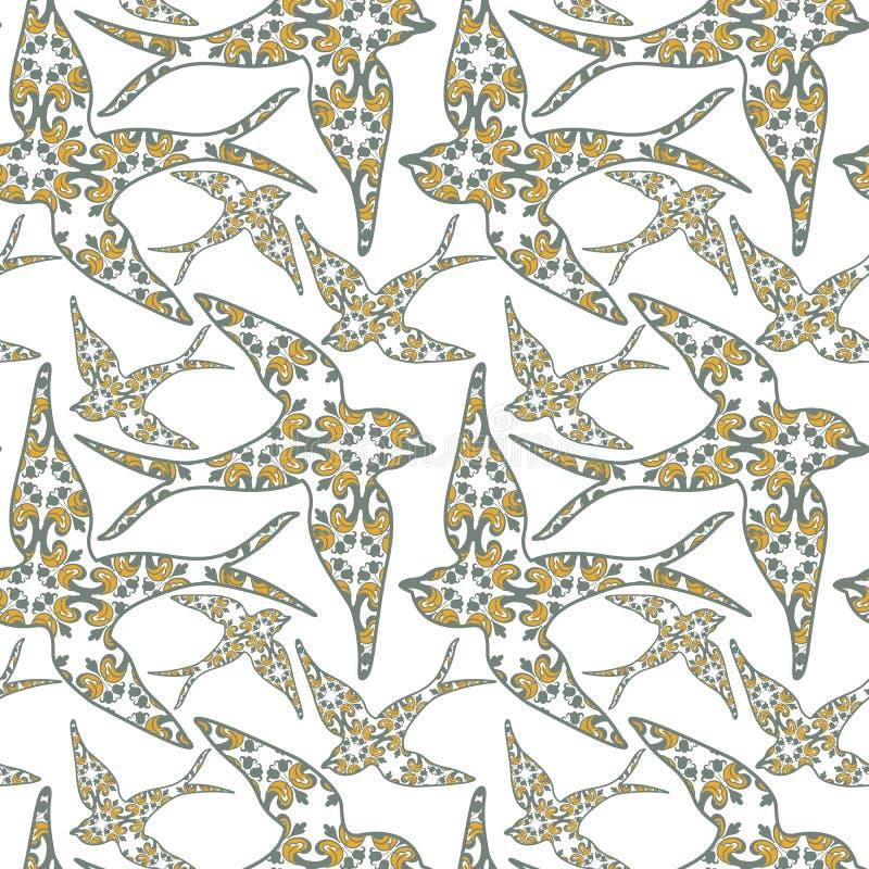 Sorso del Portoghese di Traditionall e fondo delle mattonelle di azulejo illustrazione di stock