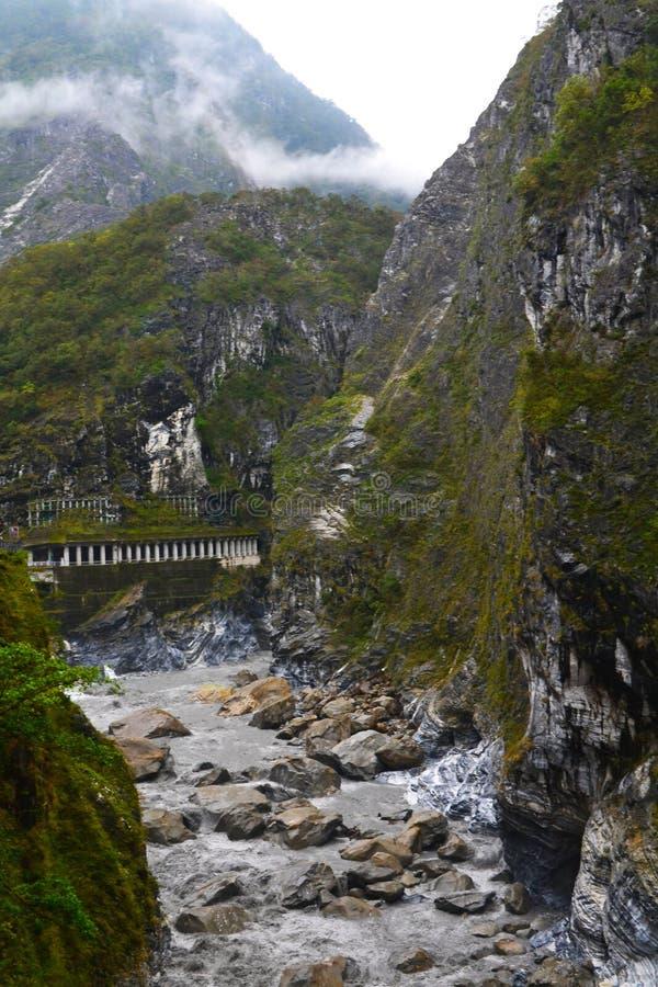 Sorso Groto nel parco nazionale di Taroko, Tchaj-WAN immagine stock libera da diritti