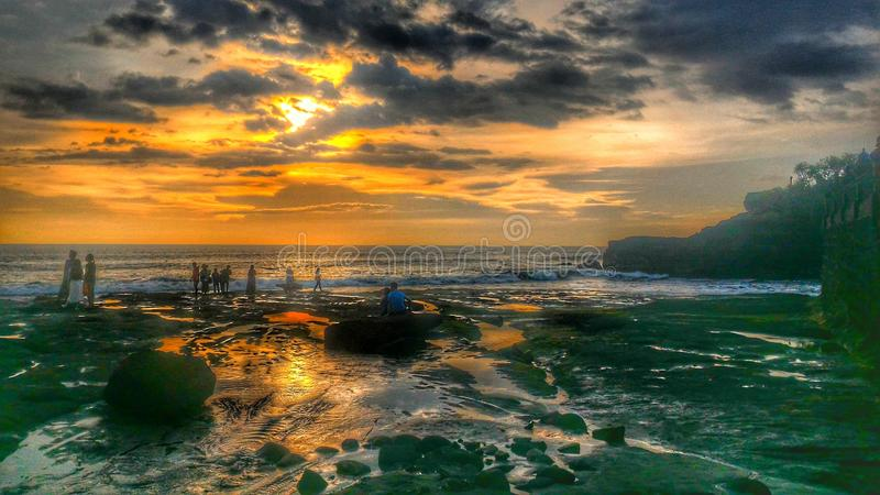 Sort Bali Indonésie de Tanah photographie stock libre de droits