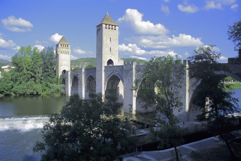 Sort Cahors de fleuve de sort de la France photographie stock libre de droits