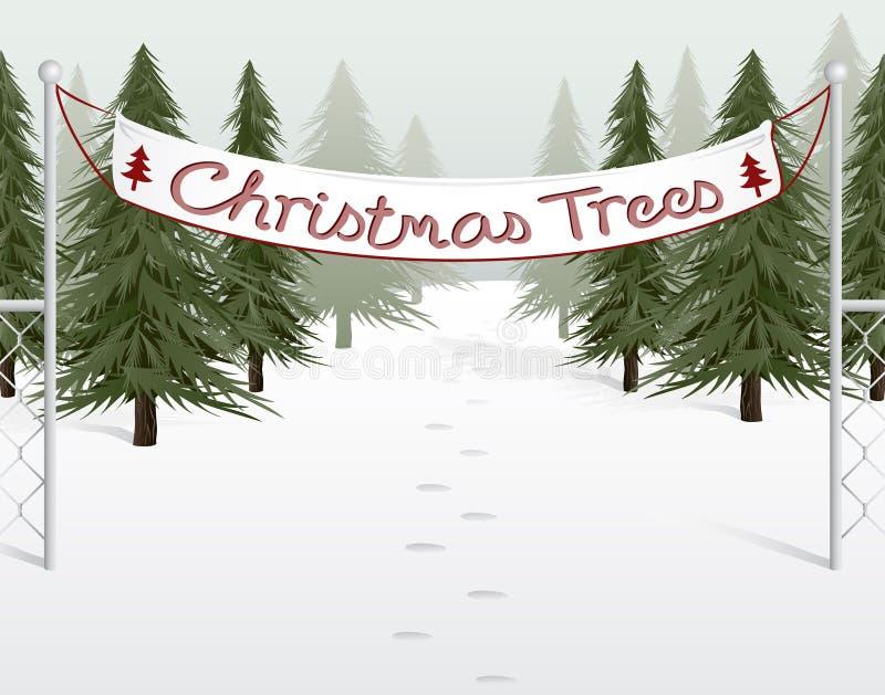 Sort d'arbre de Noël illustration stock