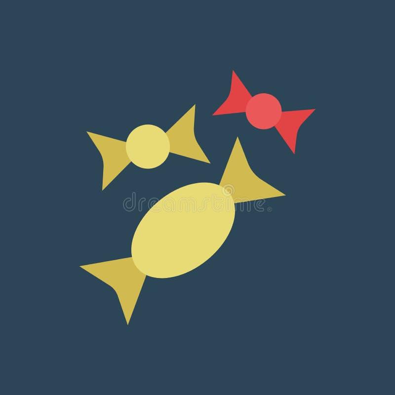 Sort d'icône de silhouette de sucrerie illustration libre de droits