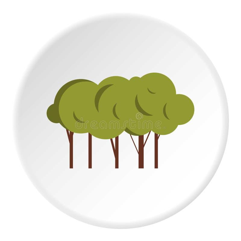 Sort d'icône d'arbres, style plat illustration de vecteur