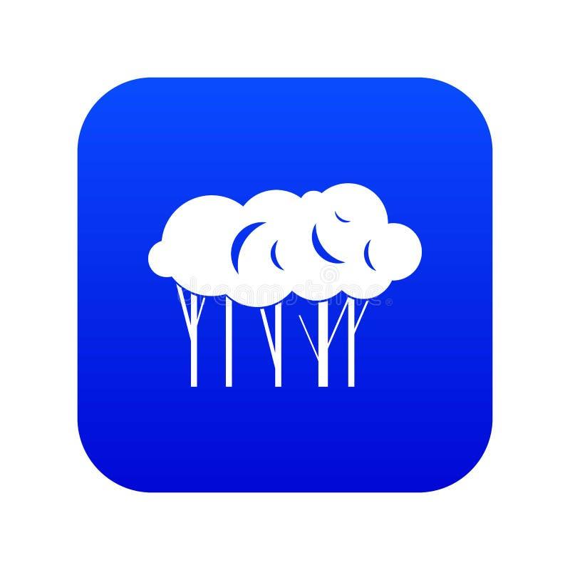 Sort de bleu numérique d'icône d'arbres illustration libre de droits