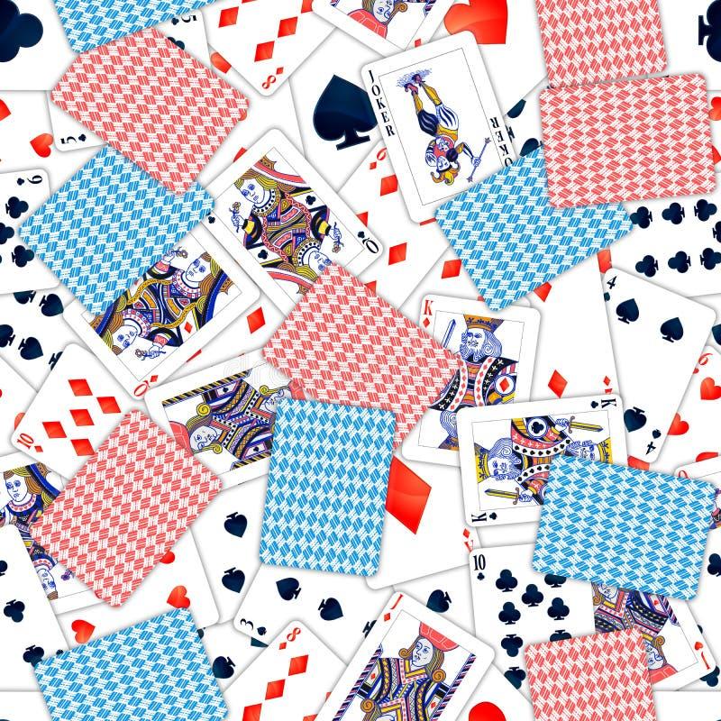 Sort de cartes jouantes réalistes, modèle sans couture illustration stock