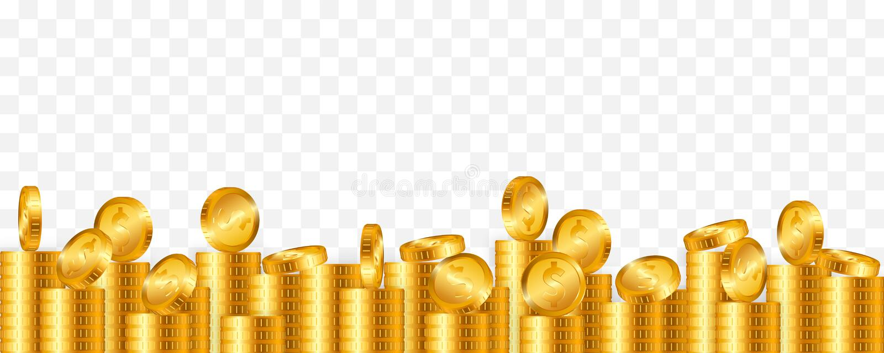 Sort de pièces d'or sur le fond transparent Illustration de vecteur illustration stock