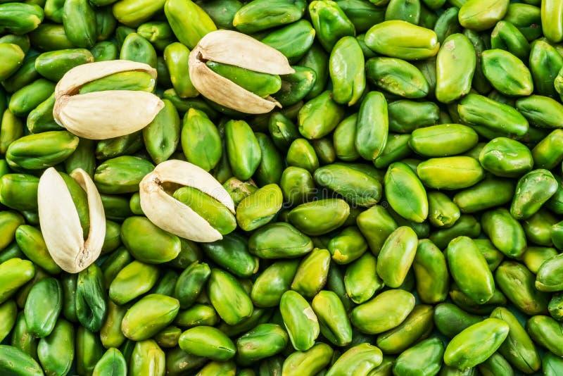 Sort de pistaches vertes Fond de nourriture images libres de droits