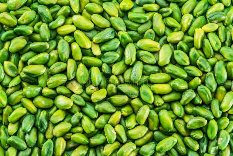 Sort de pistaches vertes Fond de nourriture image stock