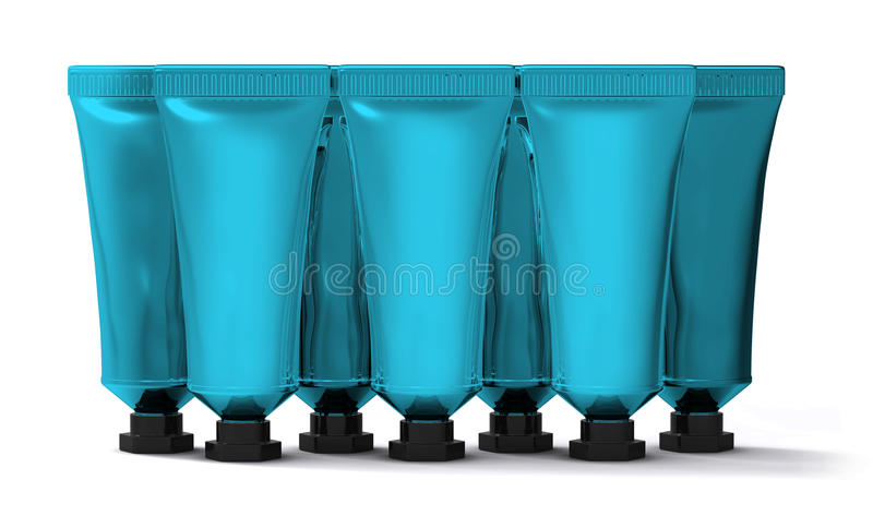 Sort de tubes crèmes bleu-clair illustration stock