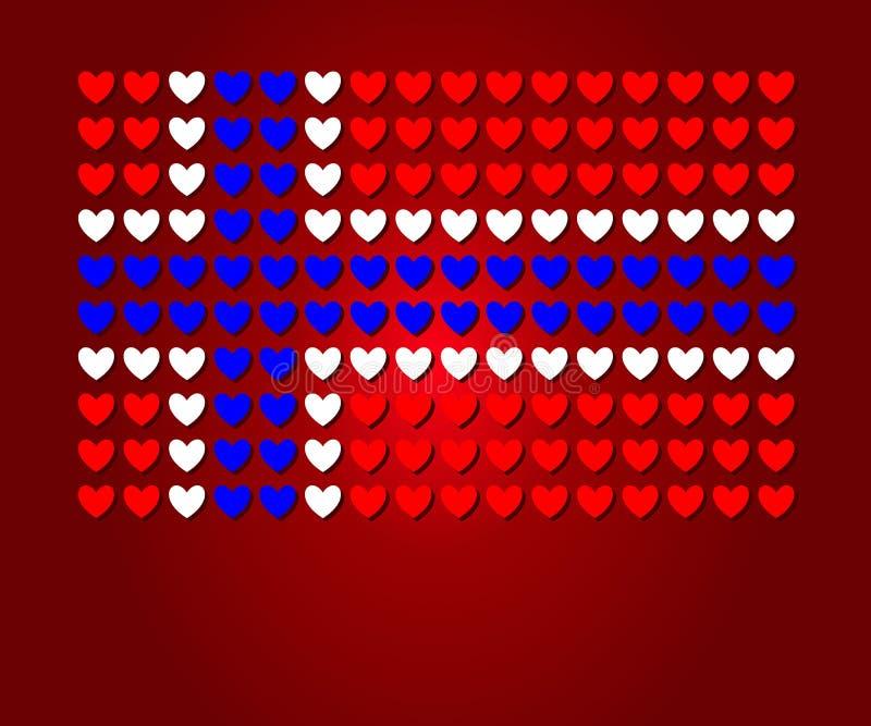 Heart Norway flag Love concept design stock illustration