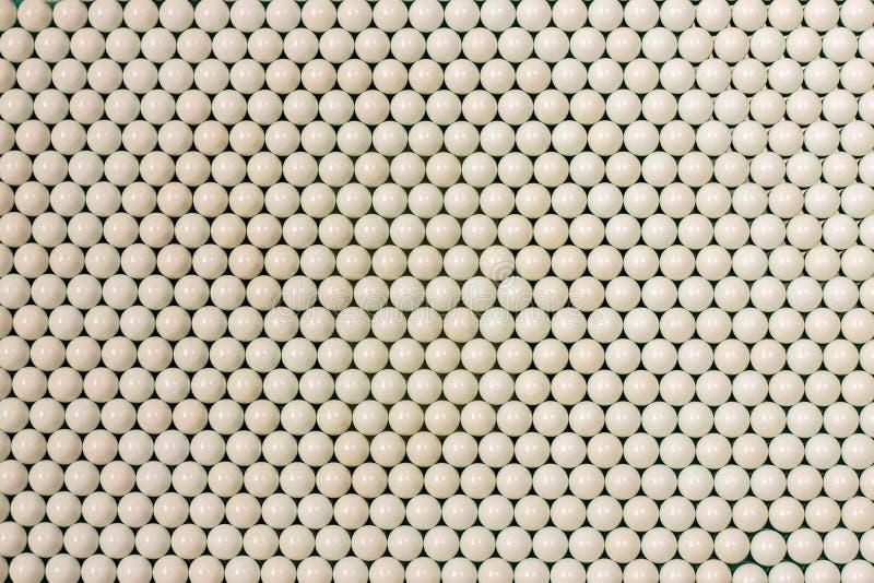 Sort white beads stock images