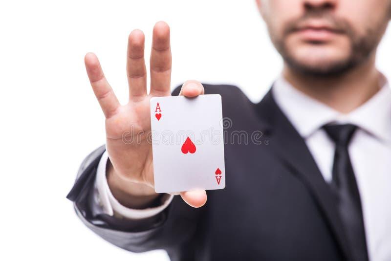 Sorte dos cartões de jogo no fundo branco imagem de stock royalty free