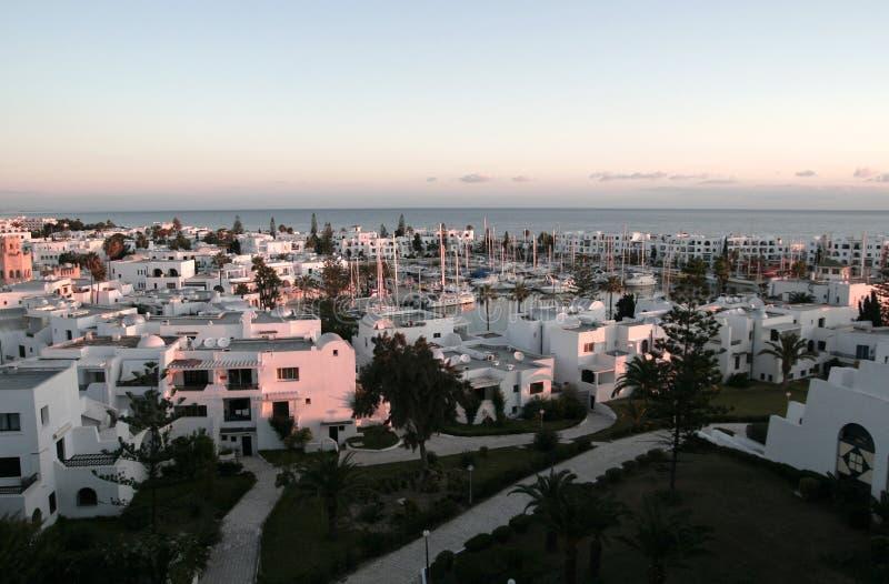 Sorte sur le port à Tunis images libres de droits