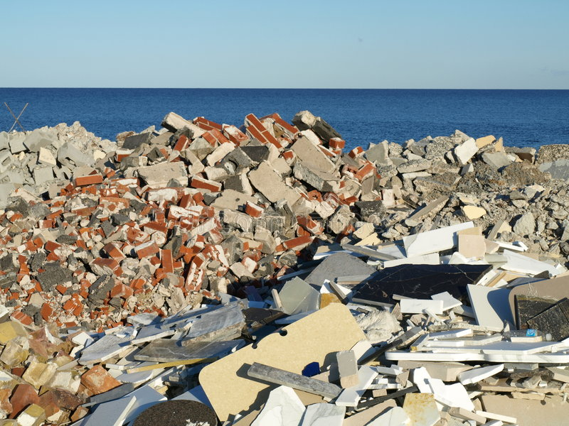 Download Sorted Building Rubble Stock Photo - Image: 8189140