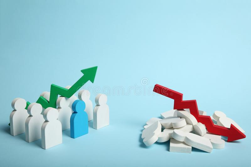 Sorted chaos, order category. Division concept.  royalty free stock images