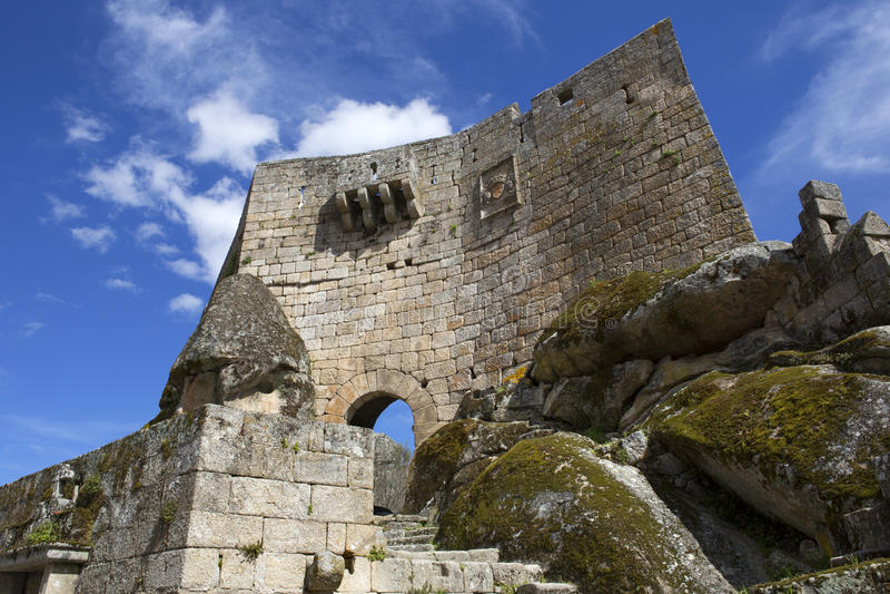 Sortelha Castle. Historic village near Covilha, Portugal stock photos