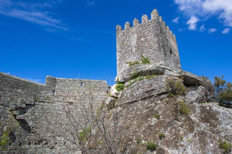 Sortelha Castle. Historic village near Covilha, Portugal stock image