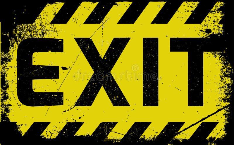 Sortez l'avertissement jaune de signe illustration de vecteur