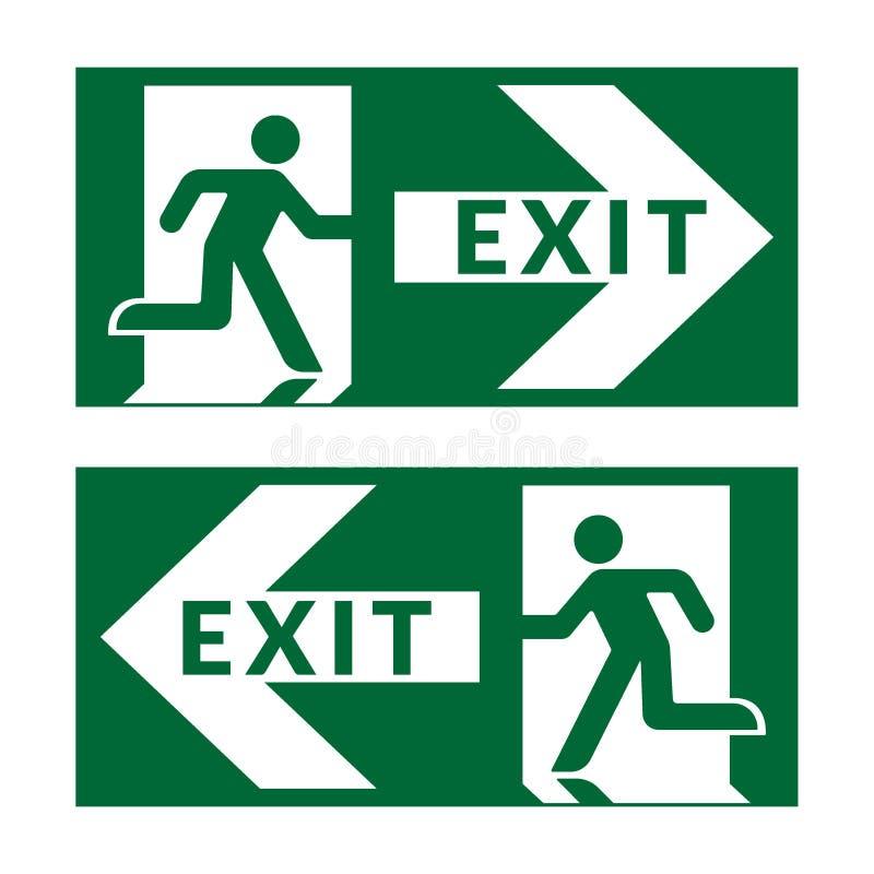 Sortez le vert de signe illustration de vecteur