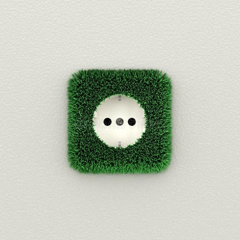 Sortie électrique verte illustration de vecteur