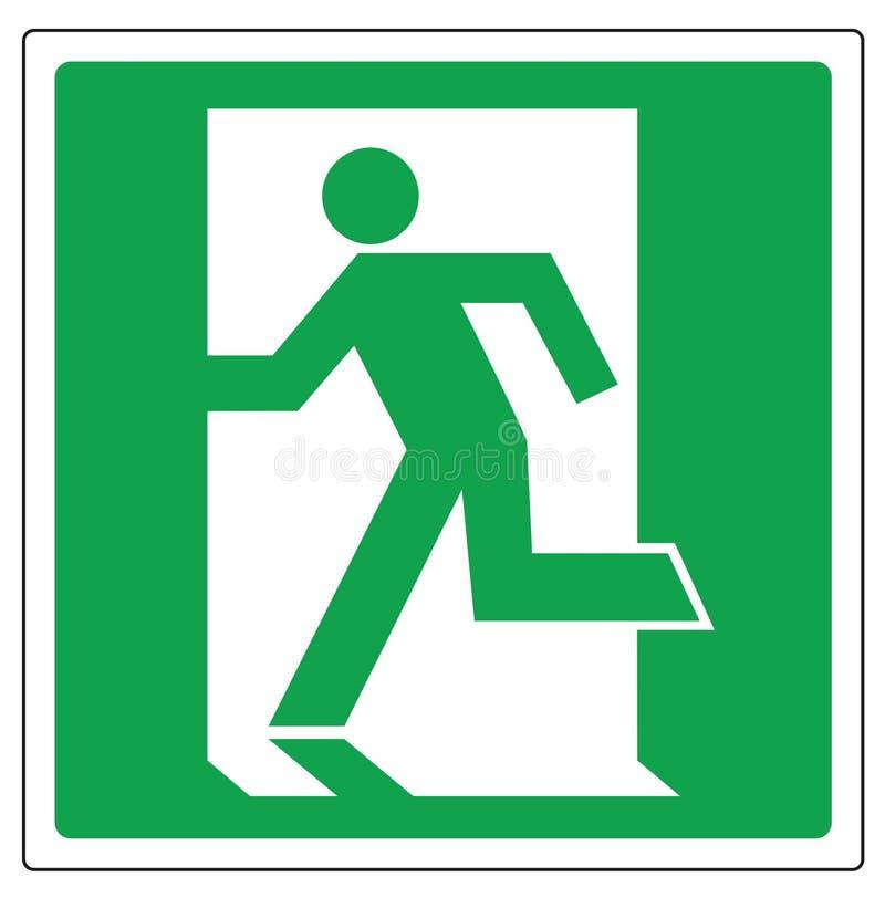 Sortie d'évacuation de signe de vecteur image libre de droits