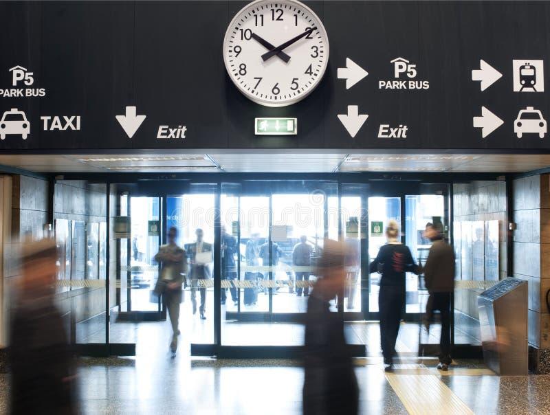 Sortie d'aéroport photo libre de droits