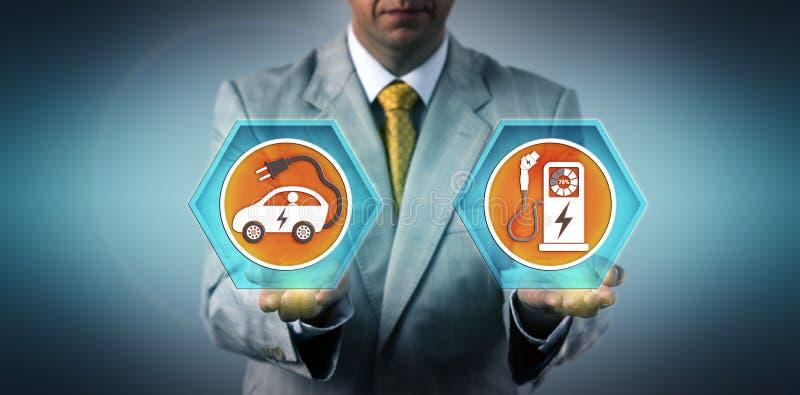 Sortie de équilibrage exécutive EV et port de charge image libre de droits