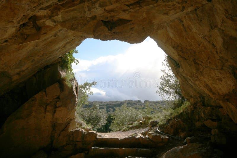 Sortie de caverne photo stock