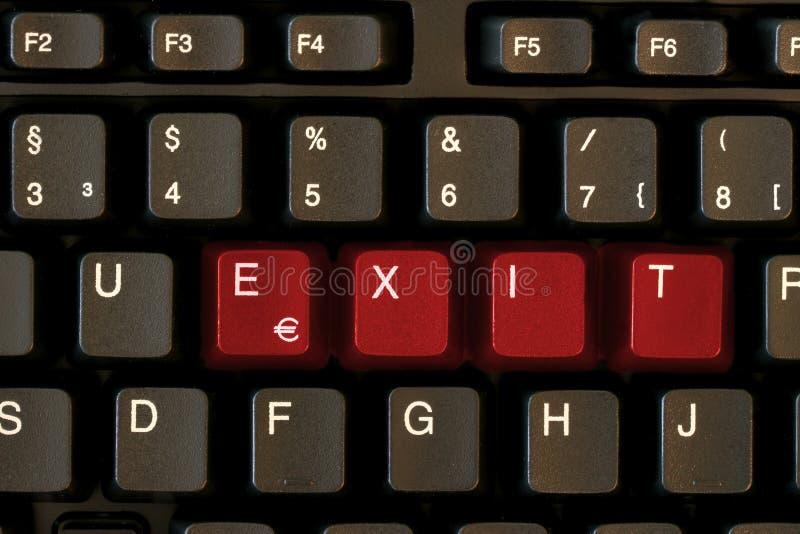 SORTIE de clavier image libre de droits