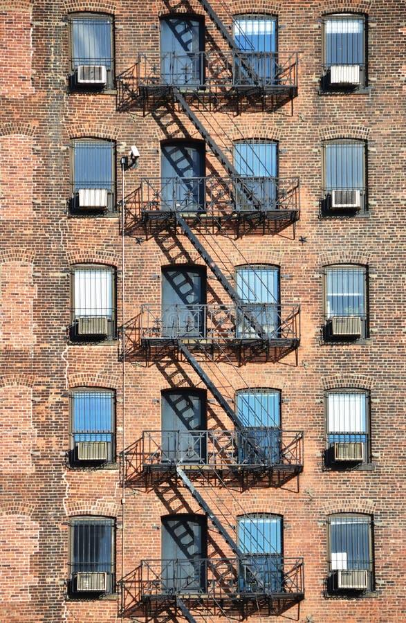 Sortie de secours, NYC images libres de droits