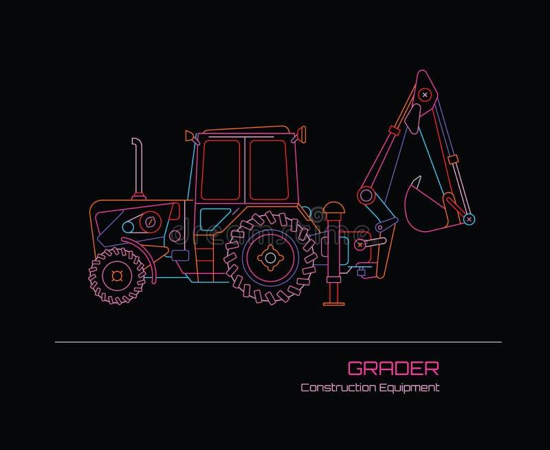 Sortierer-Traktor-Leuchtreklame lizenzfreie abbildung