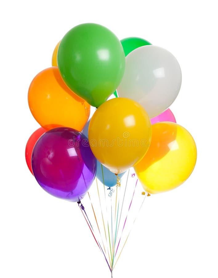 Sortierte Ballone auf einem weißen Hintergrund stockbilder