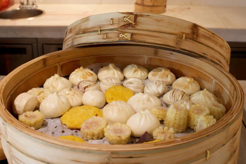 Sortierte chinesische Brötchen lizenzfreies stockfoto