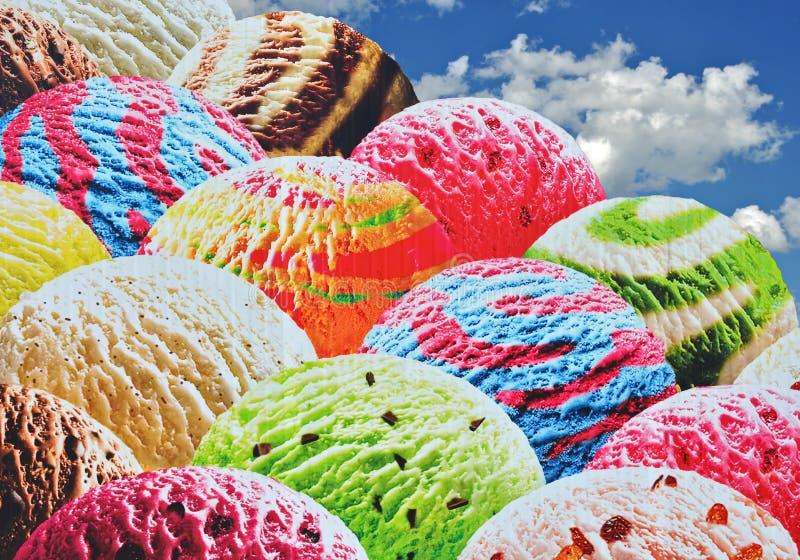 Sortierte Eiscreme stockfoto