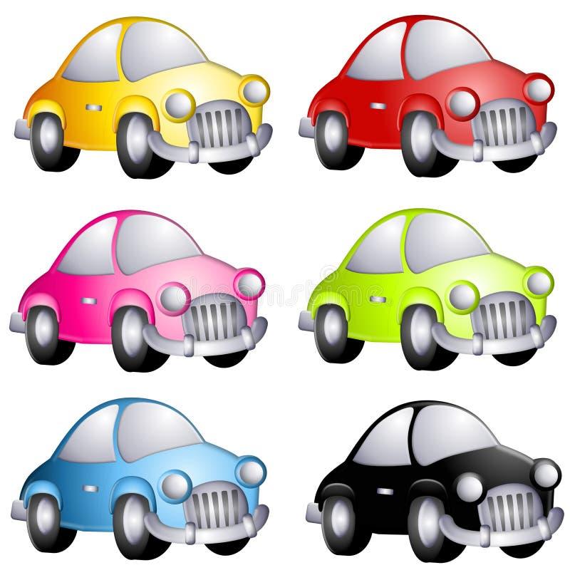 Sortierte Karikatur-Automobile lizenzfreie abbildung