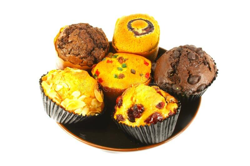 Sortierte kleine Kuchen und Muffins lizenzfreies stockbild
