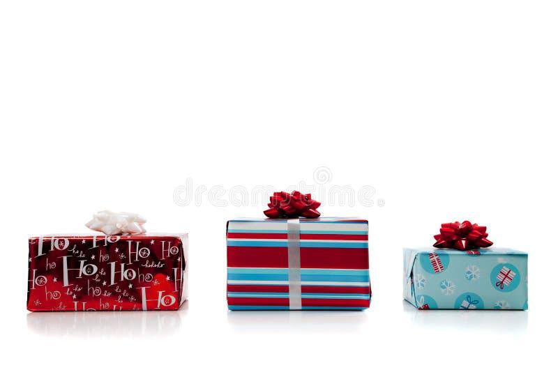 Sortierte Weihnachtsgeschenke lizenzfreie stockfotos