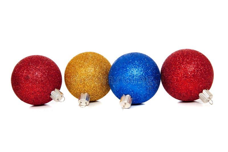Sortierte Weihnachtsverzierungen lizenzfreie stockbilder
