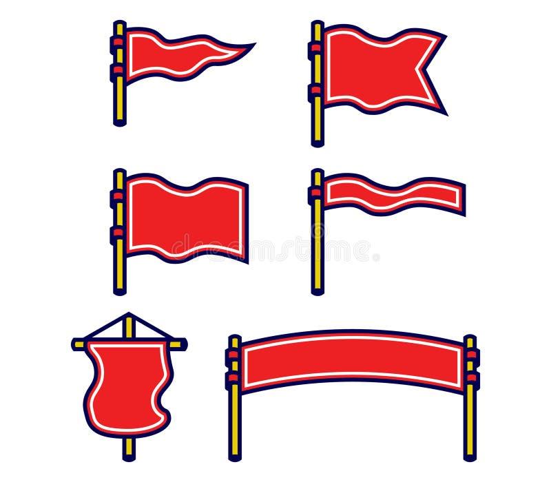 Sortierter Flaggen-mutiger Entwurfs-Satz des freien Raumes vektor abbildung